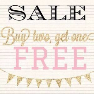 BUY TWO GET ONE FREE SALE!